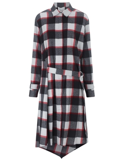 3.1 Phillip Lim - Ruby Wool Checked Shirt Dress