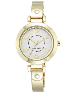Nine West - Stainless Steel Bangle Bracelet Watch