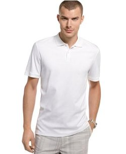 Calvin Klein  - Core Interlock Liquid Cotton Polo Shirt