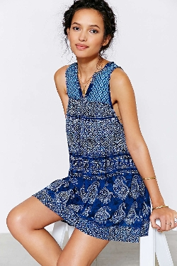 Ecote  - Gauze True Blue Frock Dress