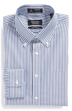 Nordstrom - Wrinkle Free Traditional Fit Stripe Dress Shirt
