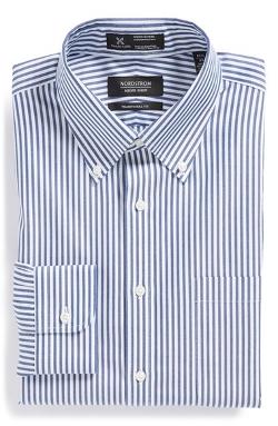 Nordstrom - Wrinkle Free Traditional Fit Stripe Dress Shirt