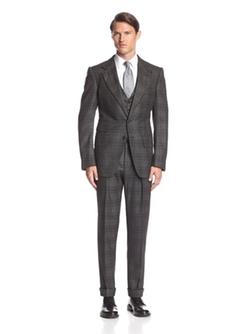 Tom Ford  - Plaid Peak Lapel Ticket Pocket Suit