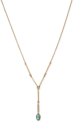 Kenneth Cole New York - Gold-Tone Stone and Crystal Lariat Necklace
