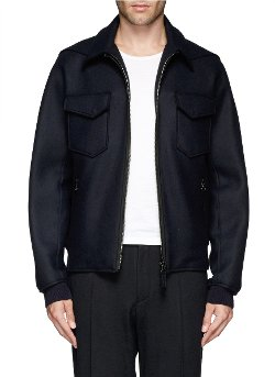 Lanvin - Double Face Flannel Blouson Jacket