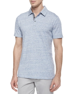 Vince  - Jaspe Short-Sleeve Jersey Polo Shirt