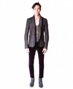 Haider Ackermann - Double-Breasted Jacket Woven Leather Effect