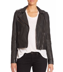 Doma - Washed Leather Moto Jacket