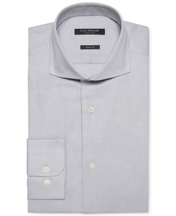 Isaac Mizrahi - Pique Dobby Solid Dress Shirt