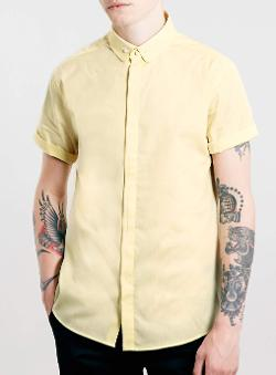 Topman - Yellow Short Sleeve Shirt