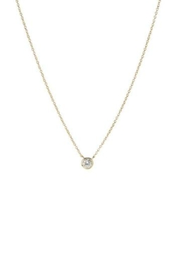 Gemma Collection - Diamond Solitaire Necklace