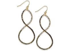 International Concepts  - Gold-Tone Multistone Infinity Drop Earrings