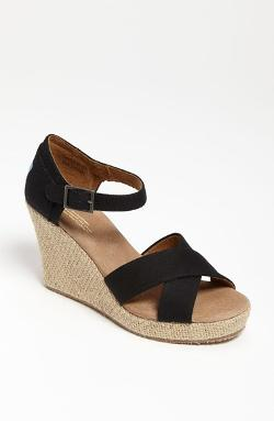 Toms - Canvas Wedge Sandals