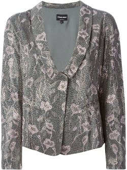 Giorgio Armani  - Embellished Floral Pink Jacket