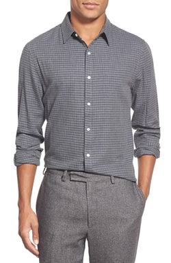 Front Street  - Miles Slim Fit Long Sleeve Check Sport Shirt