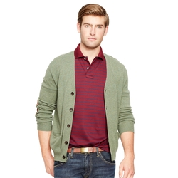 Ralph Lauren - Suede Patch Wool Cardigan
