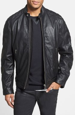 Diesel - Monike Black Leather Moto Jacket