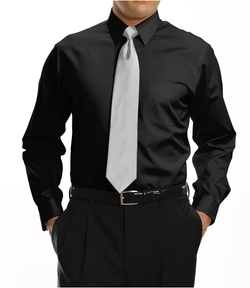 Jos. A. Bank - Pinpoint Solid Point Collar Dress Shirt