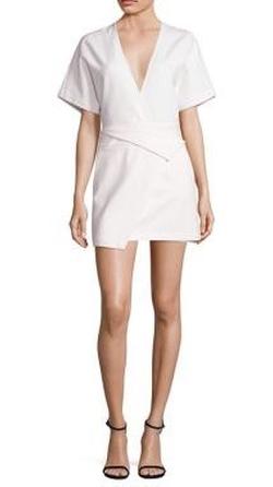 Halston  - Heritage Ponte Deep V-Neck Dress