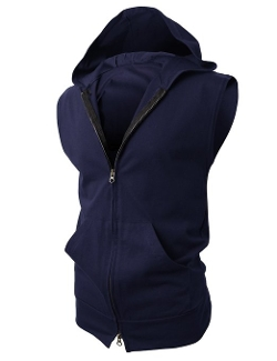 H2H - Slim Fit Sleeveless Hoodie Vest