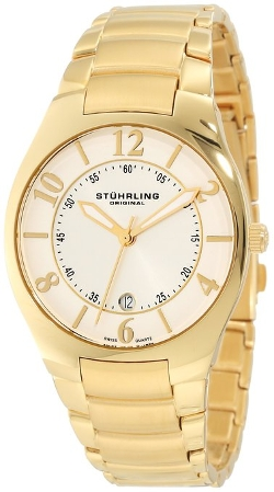 Stuhrling Original - Classic Ascot Regalia Gold-Layered Watch