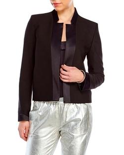 Maje  - Black Open Front Blazer