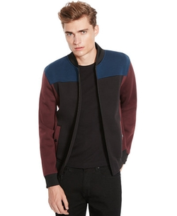 Kenneth Cole New York - Colorblocked Bonded Bomber Jacket