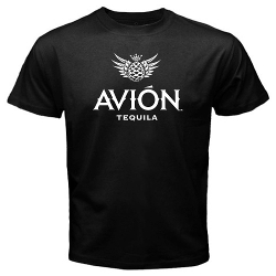 Avion - Tequila Logo Black T Shirt