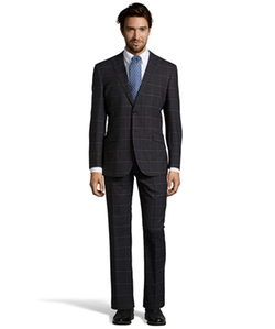English Laundry - Plaid Wool Peak Lapel Suit