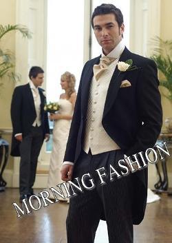 Morning Fashion - Black Groom Tailcoat Suit Tuxedos