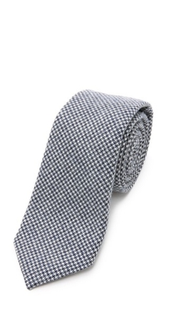 Brooklyn Tailors - Wool Mini Houndstooth Necktie