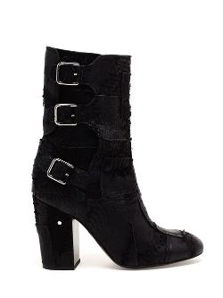 Laurence Dacade  - Merli Patchwork Leather Biker Boots