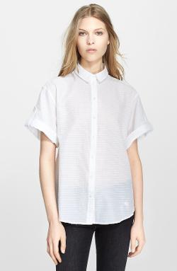Burberry Brit  - Puckered Stripe Blouse
