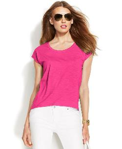 Michael Kors  - Cap-Sleeve High-Low Tee
