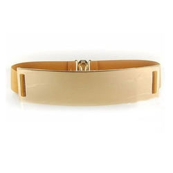 M-Tara - European Style Tan Mirror Metal Waist Belt