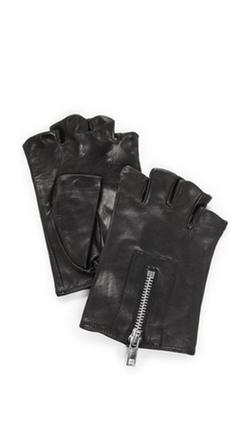 Carolina Amato - Zipper Fingerless Moto Gloves