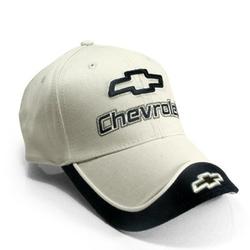 Chevrolet  - Beige and Black 3D Logo Baseball Cap