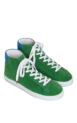 TWINS FOR PEACE  - Green & Navy High Top Sneaker