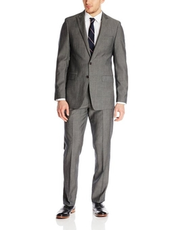 Bruno Piatelli  - Cristoforo Tonal Stripe Two Button Side Vent Suit