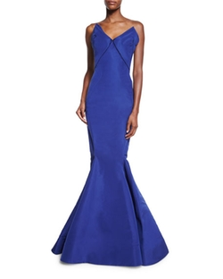 Zac Posen - Strapless Bow-Bodice Mermaid Gown