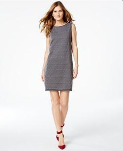 Studio M  - Sleeveless Textured Knit Dress