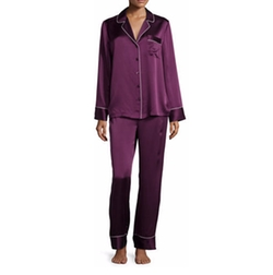NM Intimates - Silk Satin Two-Piece Pajama Set