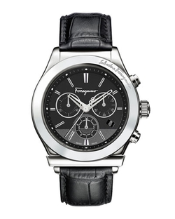 Salvatore Ferragamo	  - Croc-Embossed Chronograph Watch