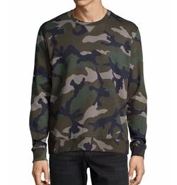 Valentino - Camo-Print Crewneck Sweatshirt