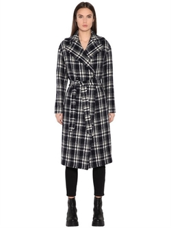 Tagliatore 0205   - Double Breasted Plaid Boiled Wool Coat