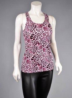 Fashion House La - Scoop Neckline Printed Tank Tops