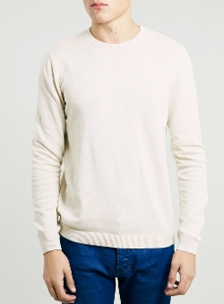 Topman - Oat Marl Crew Neck Sweater