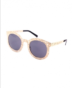 Chicnova - Retro Style Big Frames Round Sunglasses