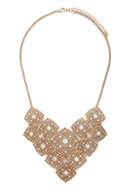 Forever21 - Tiered Ornate Bib Necklace