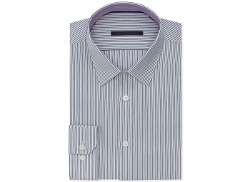 Elie Tahari  - Grey Stripe Dress Shirt